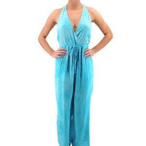 FAVLUX Turquoise Tie Dye Halter Jumper #M14